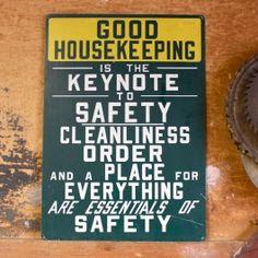 Good Housekeeping Metal Sign - Pedlars Friday Vintage