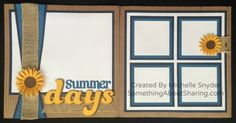 Ready For Summer Memory Keeping? – Something About Sharing 8x8 Scrapbook Layouts, Scrapbook Sketches, Card Sketches, Scrapbook Albums, Scrapbook Cards, Scrapbooking Ideas, Vacation Scrapbook, Wedding Scrapbook, Baby Scrapbook