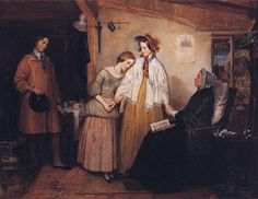 Richard Redgrave - Going into Service (1843)