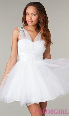 Sleeveless Short Baby Doll Dress, Sleeveless Party Dress-PromGirl