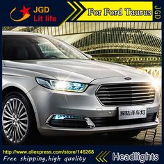 880.20$  Buy now - http://alia6q.worldwells.pw/go.php?t=32789924938 - Free shipping ! Car styling LED HID Rio LED headlights Head Lamp case for Ford Taurus 2015-2017 Bi-Xenon Lens low beam 880.20$