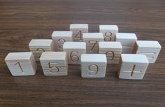 Wooden number blocks Counting blocks Educational by WoodpeckerLG