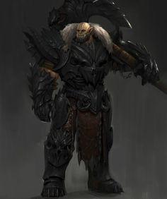 Fantasy Heroes, Fantasy Races, Fantasy Armor, Dark Fantasy Art, Warcraft Characters, Dnd Characters, Fantasy Characters, Fantasy Character Design, Character Art