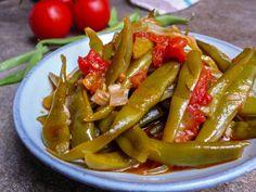 Ferske bønner i olivenolje (Zeytinyağlı taze fasülye)