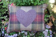 Totally Tartan - Highland Heather Heart Tartan Cushion (http://www.totallytartan.net/highland-heather-heart-tartan-cushion/)