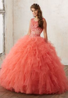 Coral Quinceanera Dress | Quinceanera Ideas | Morilee Dress | Vestidos de Quinceañera