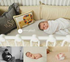 lifestyle newborn photography - crib