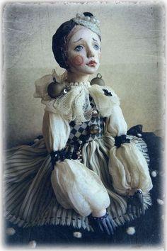 Art Dolls, Modern Art, Victorian, Black And White, Dresses, Fashion, Black White, Blanco Y Negro, Gowns