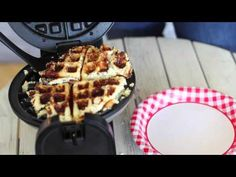 Low carb heaven or diet fad gone wrong? Watch to find out what happens when you put cauliflower pizza crust dough into a waffle iron!