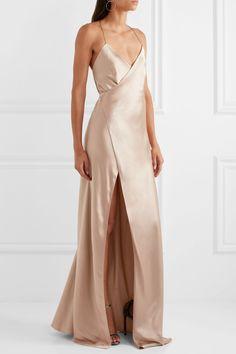 Michelle Mason   Silk-satin wrap gown   NET-A-PORTER.COM