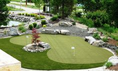 www.synlawnvancouver.ca #synthetic grass #putting #greens in backyards, decks, patios as well as indoors are great for improving your golf score.