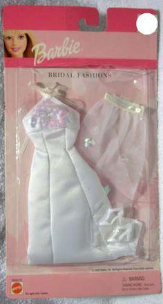 Barbie Fashion 2000 68065 85 Bridal Halter Top Gown Mint on Card | eBay