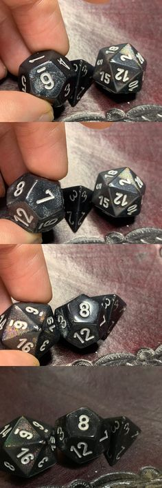 Old Glitter Borealis Pink//Silver d6 Block Dice  RARE OOP Chessex 27286 16mm