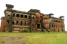 eerie and long abandoned Bokor Palace Hotel built in 1921