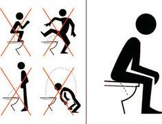 Affichette pour des toilettes propres ! Monsieur, grosse envie ou petite vessie mais pisse assis !