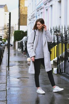 Get this look: http://lb.nu/look/8004650  More looks by Xenia Klein: http://lb.nu/xenia_antonina  Items in this look:  Primark Boyfriend Coat, Topshop Sweater, Topshop Jeans, Adidas Stan Smiths