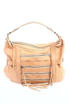 Botkier Tan Zipper Detail Hobo Bag - $81
