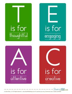 What a teacher should be. the word teacher is completely spelled out at the site.