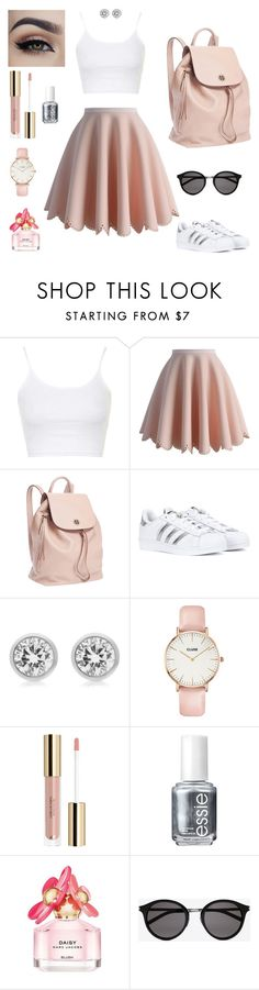 """Daisy (2)"" by mariacle2753 ❤ liked on Polyvore featuring Topshop, Chicwish, Tory Burch, adidas, Michael Kors, CLUSE, Essie, Marc Jacobs and Yves Saint Laurent"