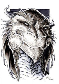 The Hobbit - Smaug Portrait by DanielGovar.deviantart.com