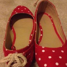Old Navy Polka Dot Flats 8 | eBay | $18