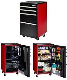 For my husband! It's a mini-fridge that looks like a tool chest. haha!!
