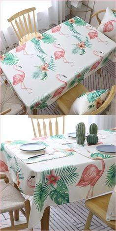 Flamingo Print Design Decorative Table Cloth