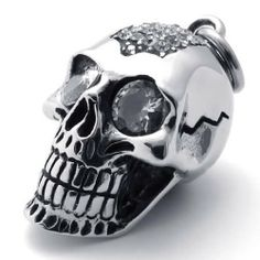 """20"""" KONOV Jewelry Gothic Skull Tribal Biker Men's Stainless Steel Pendant Necklace for Men - Silver, 20 inch Chain KONOV Jewelry. $9.99. Chain Length: 18"""" 20"""" 22"""" 24"""" or 26"""" Width: 3mm. Pendant Height: 1.81""""(4.6cm) Width: 0.87""""(2.2cm). Color: Silver; Material: Stainless Steel. Pendant arrives with one quality stainless steel chain.. Save 75%!"""