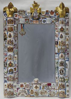 Pique Assiette Mosaic Mirror, by Candace Bahouth  Royal theme going on.