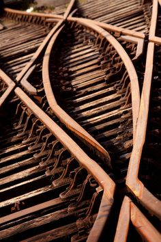Crossed Lines by archidave. Diamond crossing on Bristols Harbourside Railway.