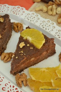 Party Desserts, Healthy Desserts, Healthy Recipes, Healthy Food, Vegan Gluten Free, Vegan Vegetarian, Vegetarian Recipes, Brownie Cake, Brownies