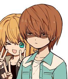 Misa Misa e Light Yagami Death Note Light, L Death Note, Fanarts Anime, Manga Anime, Light And Misa, Manhwa, Amane Misa, Instagram Dp, Death Note Fanart