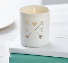Personalised You And Me Candle
