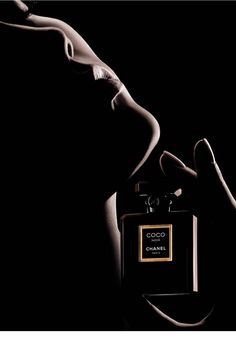 The face of Chanel's Coco Noir fragrance.