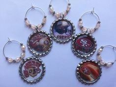 49ers Football Party Favors, PICK YOUR TEAM, only $1.95 per charm