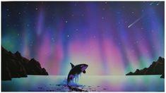 Aurora Borealis killer whale restuarant Art Painting Pictures Mural   eBay!