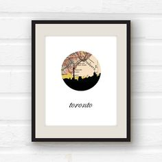 Toronto map Toronto art Toronto skyline by PaperFinchDesign, $10.00