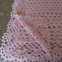 "Handmade crocheted Baby Shower - Newborn Gift baby blanket. I only use quality yarn. This particular blanket was made with ""Caron Simply Soft"" yarn which feels very soft and silky to the touch.   Machine washable and dryer safe. Wonderful heirloom which can be passed from generation to generat..."