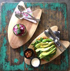 the best sweet potato waffesl. Avocado Cafe in Canggu, Bali