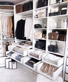 Unique closet design ideas will definitely help you utilize your closet space appropriately. An ideal closet design is probably the … Walk In Closet Design, Bedroom Closet Design, Closet Designs, Bedroom Decor, Bedroom Ideas, Ikea Bedroom, Walk In Closet Ikea, Ikea Pax Closet, Master Bedroom