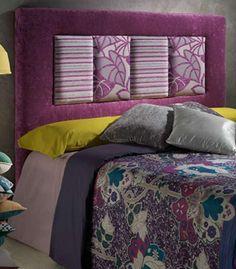el cabecero tapizado royal acabado en tela con su diseo en lneas puras y rectas