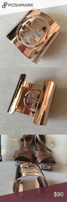 Tory Burch Rose Gold Cuff Like new, worn once. Tory Burch Jewelry Bracelets