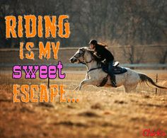 """Riding is my sweet escape…"" #HorsebackRiding"