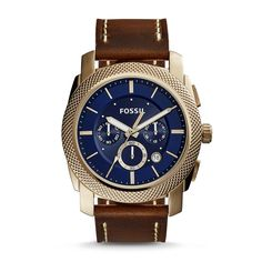 Fossil Men's FS5159 Machine Chronograph Dial Brown Watch