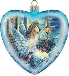 "G. Debrekht Limited Edition Light The Way Angel Glass Heart Ornament, 5.5"" G. Debrekht http://www.amazon.com/dp/B00L9MWREK/ref=cm_sw_r_pi_dp_98Fxwb18W0WN7"