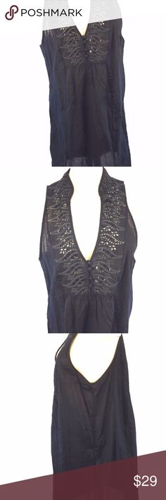 NWT Free People Dress Tunic Sz M Black Sequin *New with manufacturer's tags attached tunic/short dress by Free People; size M  * Black lightweight poplin with sequin embellished neckline; sleeveless; pockets  Shoulder-Shoulder 11 Armpit-Armpit 21 Waist NA Overall Drop 34 Sleeve NA  2152 J Free People Dresses