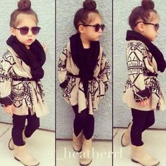 Definitely dress up my baby girl like this, so cute! Little fashionista Little Girl Outfits, Cute Outfits For Kids, Little Girl Fashion, Toddler Fashion, Fashion Kids, Toddler Outfits, Cute Kids, Winter Fashion, Toddler Girls