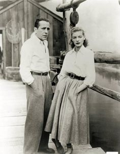 Bogart and Bacall...had to...even though we are Bogert. It gets mistaken enough.