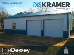 The Dewey - 24 x 40 x 10 View, configure and price this building at http://www.MyPoleBuilding.com/