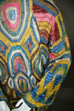 1925 Austrian crochet coat possibly Wiener Werkstatte for export Crochet Coat, Crochet Blouse, Vintage Outfits, Vintage Fashion, Vintage Style, Blusas Top, Dior, Aztec Designs, Fashion Collage